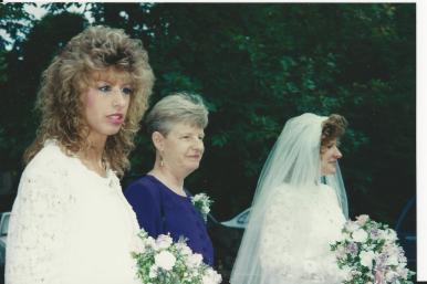 Elizabeth, Jessie and Felicia before Felicia's First Wedding