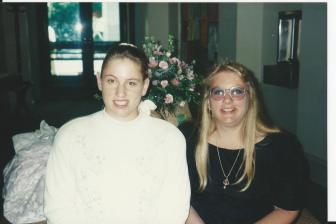 Annie and Cora at Felicia's first Wedding