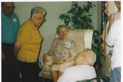 Gramma Sands at 90ieth birthday