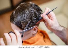 images Little Boy getting a hair cut blog 8 10 2018